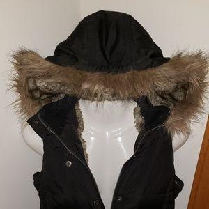 Jackets & Blazers - Hooded Fur Vest